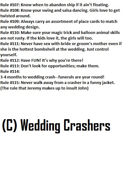 crashing wedding
