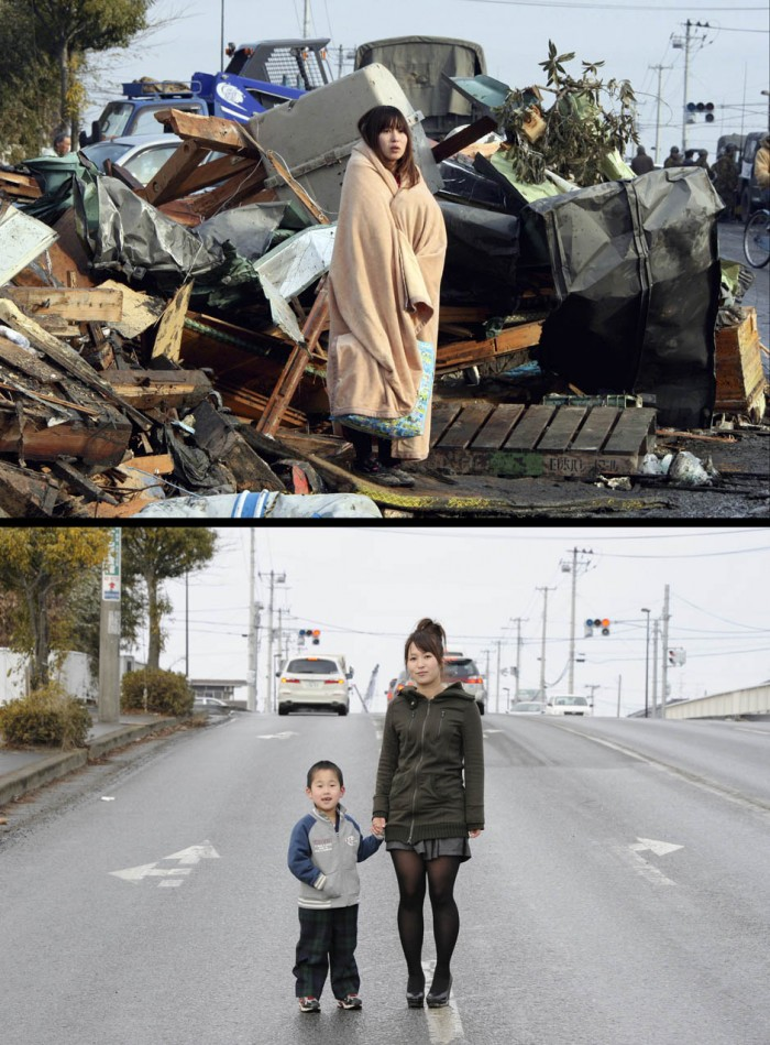 japan quake then and now