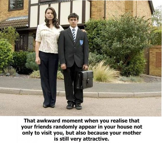 awkward moment attractive mother