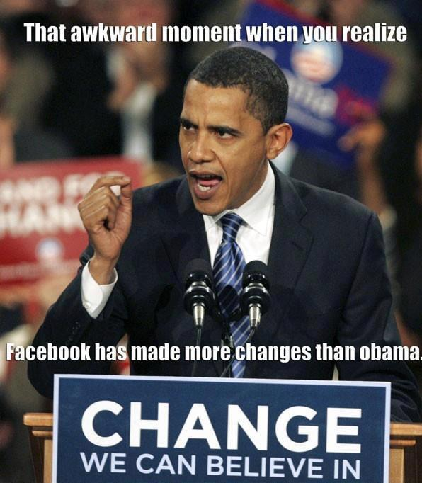Barack Obama vs Facebook
