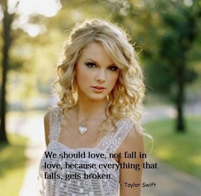 Don't Fall In Love - Taylor Swift