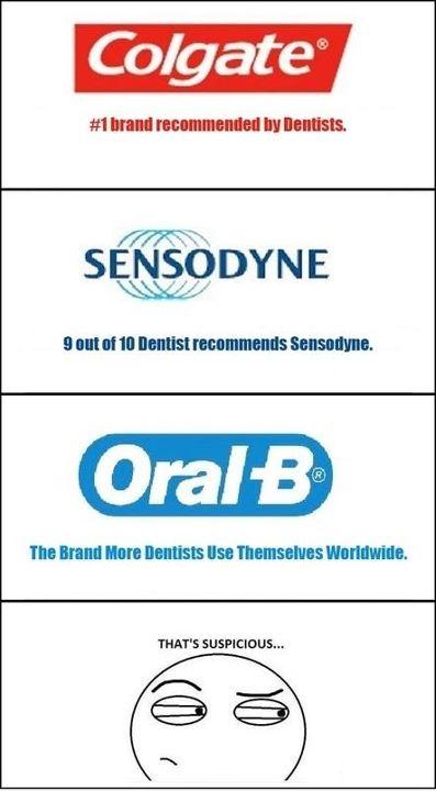 Suspicious Toothpaste Advertisements