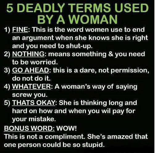 5 Deadly Words Used By Woman