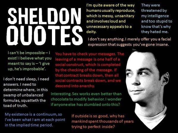 Dr Sheldon Cooper Quotes