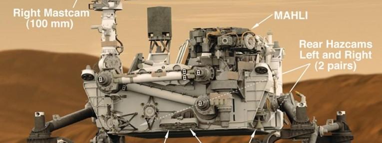 Mars Landing Curiosity Rover Shadown