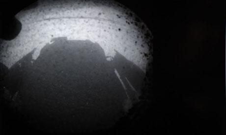 Mars Landing Curiosity Rover Shadow