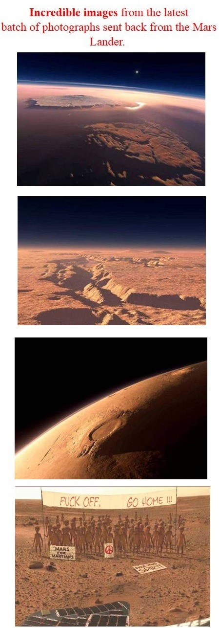 Mars Landing First Pictures Meme