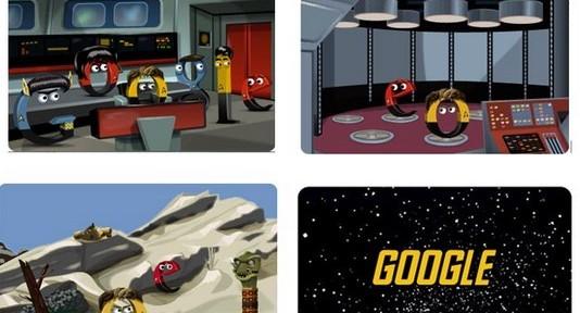 46th Anniversary Star Trek Google Doodle