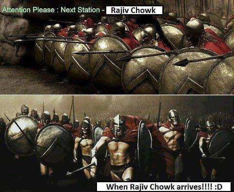 Delhi Metro - Rajiv Chowk Station